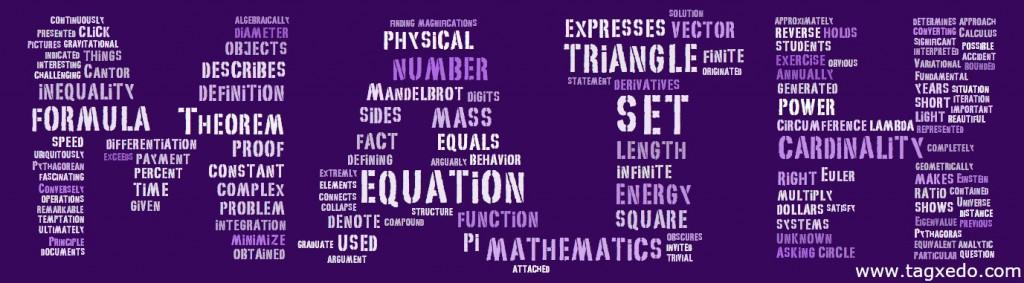 Math-Tagxedo